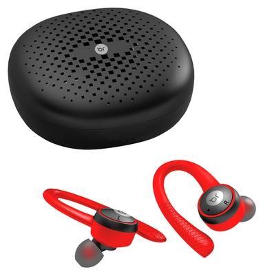 Fone de Ouvido Bluetooth Bright Fit, Recarregável, Preto e Vermelho - FN557
