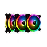 Kit 3 Cooler FAN Gamdias, 360mm, RGB - AEOLUS M2-1203 LITE