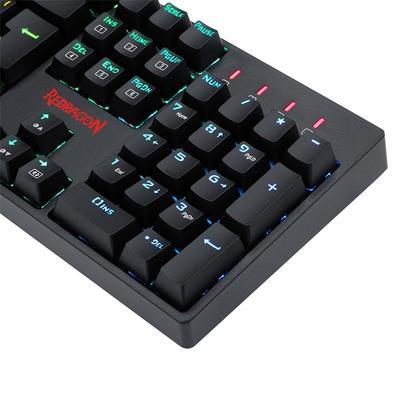 Teclado Óptico-Mecânico Gamer Surara Pro, RGB, Switch Redragon Optical Red, ABNT2 - K582RGB-PRO PT-RED