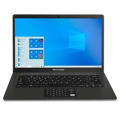 Notebook Multilaser Pentium N3700, 4GB, 64GB, Windows 10, Preto - PC310