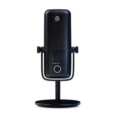 Microfone Condensador Elgato Wave 3, USB, Solução de Mixagem Digital, Anticliping, Preto - 10MAB9901