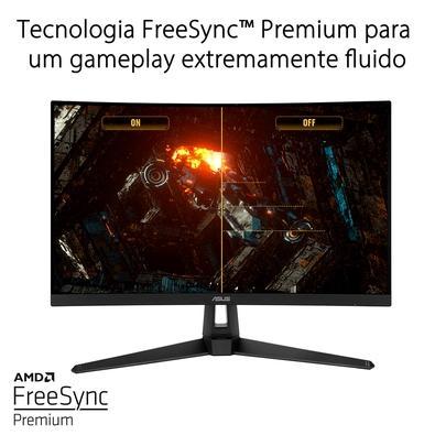 Monitor Asus Gamer 27´ WQHD, 165 Hz, 1ms, Curvo 1500R, Adaptive-Sync (FreeSync Premium), Display Port, HDMI (v2.0), TUF Gaming VG27WQ1B