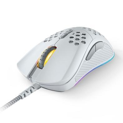 Mouse Gamer Fallen F70 Tempest Ultraleve, 70g, RGB, Switch Omron, Sensor 3360, Branco