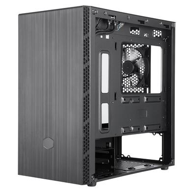 Gabinete Cooler Master MasterBox MB400L, Mini Tower, 1x Cooler Fan Traseira, Lateral em Vidro Temperado, Preto - MCB-B400L-KGNN-S00