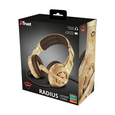 Headset Gamer Trust GXT 310D Radius, PS4, Xbox One, Switch, PC, Camuflado Desert - 22208
