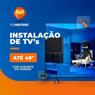 """Instalação de TV até 49"""" com suporte de parede"""