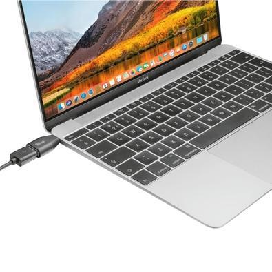 Adaptador USB-C para USB-A Trust Calyx, 10 Gbps, Plug & Play - 22627