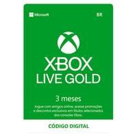 Gift Card Xbox Live Gold - 3 meses - Código Digital