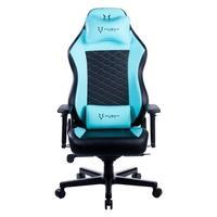 Cadeira Gamer Husky Gaming Blizzard 900 S.E., Azul e Preto, Com Almofadas, Reclinável com Sistema Frog, Descanso de Braço 3D - HGMA095