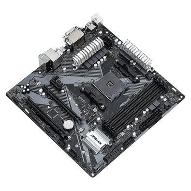 Placa Mãe ASRock, AMD AM4, Micro ATX, DDR4, Polychrome Sync RGB - B450M Pro4-F R2.0