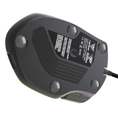 Mouse Gamer Patriot Viper V570 Laser Mouse Blackout Edition RGB, 12000DPI, 13 Botões para MMO e FPS, Preto - PV570LUXWAK