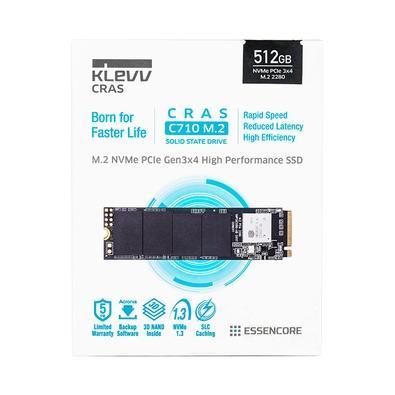 SSD KLEVV CRAS C710, 512GB, M.2 NVMe, Leitura 2050MB/s e Escrita 1650MB/s - K512GM2SP0-C71