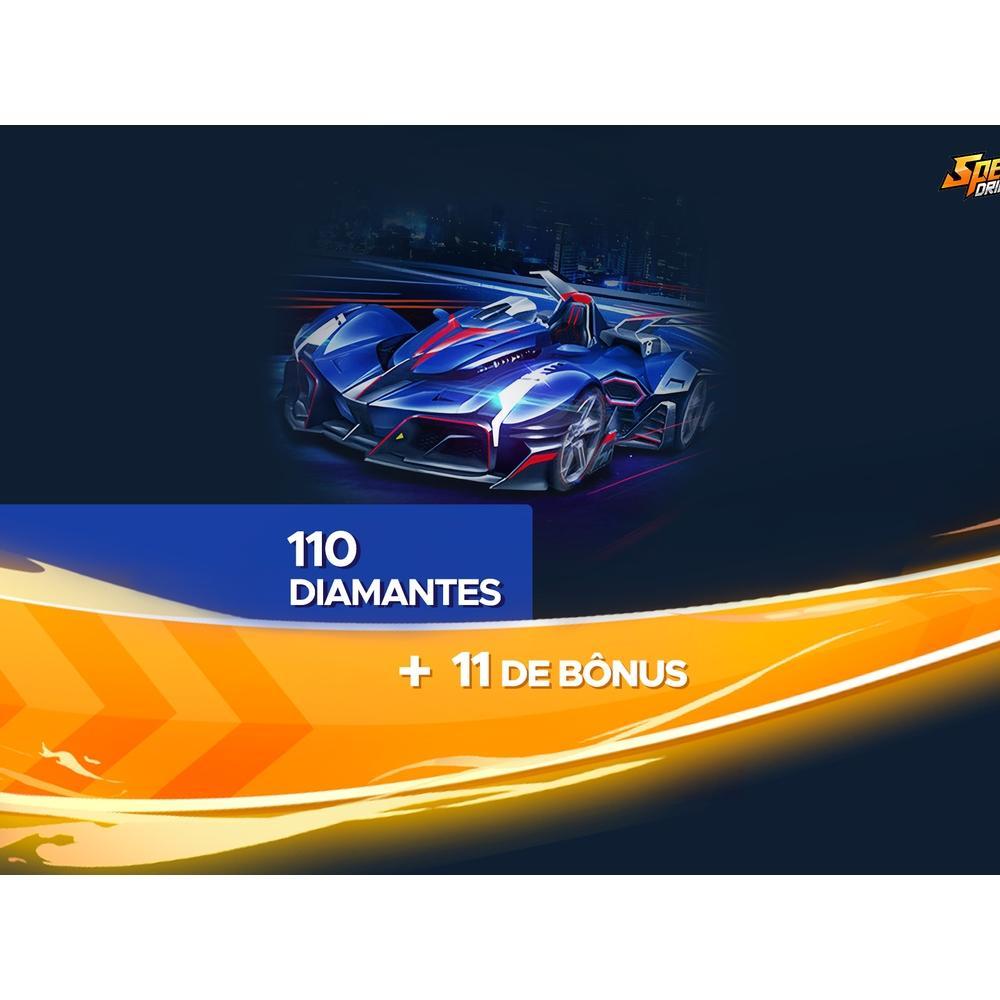 Gift Card Digital Speed Drifters - 110 Diamantes + 11 de Bônus