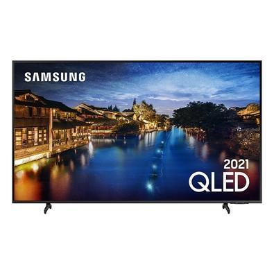 Smart TV Samsung 50´ 4K QLED 50Q60A, Tela Infinita, Processador IA, HDR10+, Design Slim, Alexa Built In - QN50Q60AAGXZD