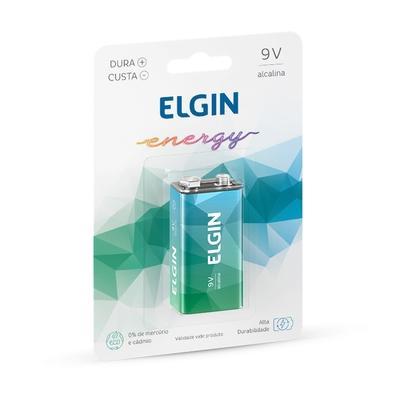 Bateria Alcalina 9V Elgin Blister 6LR61, 1 Unidades - ELE000000082158