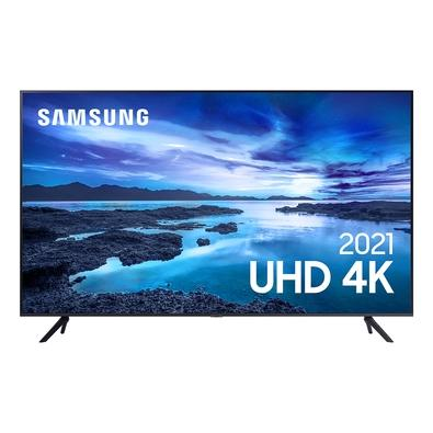 Samsung Smart TV 55´´ UHD 4K 55AU7700, Processador Crystal 4K, Tela sem limites, Visual Livre de Cabos, Alexa Built In - UN55AU7700GXZD