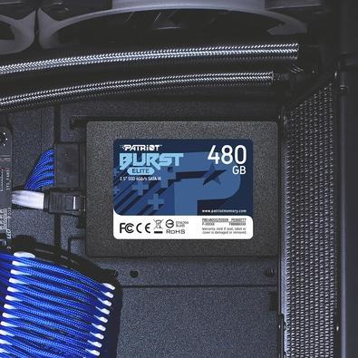 SSD Patriot Burst Elite 480GB, 2.5´, SATA III, Leitura: 450MB/s e Gravação: 320MB/s - PBE480GS25SSDR