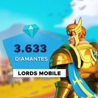 Gift Card Digital Lords Mobile - 3.633 Diamantes