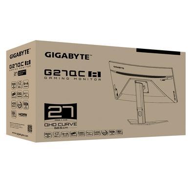 Monitor Gamer Curvo Gigabyte G27QC-A 27´, 165Hz, 1ms, QHD, HDMI 2.0/DisplayPort, FreeSync, Ajuste de Altura, Preto