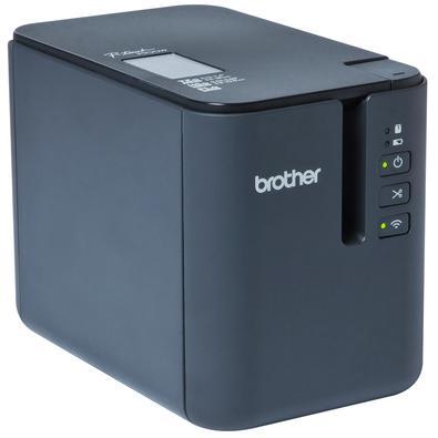 Rotulador de Mesa Eletrônico Brother, Compatível com PC, USB, Wi-fi, para Fitas TZe, 99 Modelos Pré Definidos, Preto - PTP900W