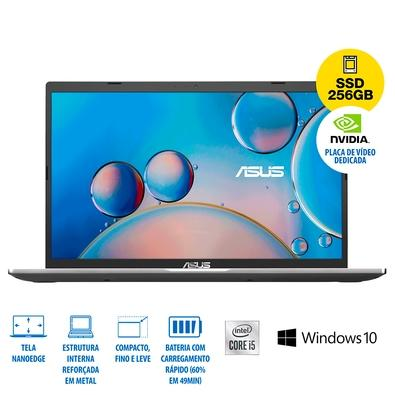Notebook Asus Intel Core i5-1035G1, GeForce MX130 2GB, 8GB, 256 GB SSD, Windows 10 Home, 15.6´, Cinza - X515JF-EJ153T