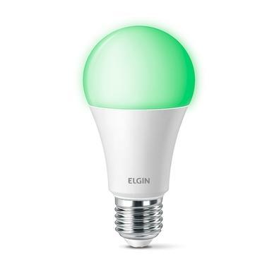 Lâmpada Smart Elgin Smart Color 10W RGB, WiFi, Modelo Bulbo, Suporta Controle de Voz, Bivolt - 48BLEDWIFI00