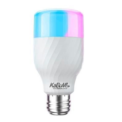 Kit 6 Lâmpadas KaBuM! Smart, RGB + Branco, 10W, Google Home, Alexa - EAN: 7908222401458