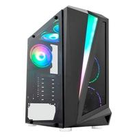 Computador Gamer NTC Powered By Asus AMD Ryzen 3 3200G, 8GB RAM, SSD 240GB, RGB, Linux, Preto - Ntc VULCANO II 7181