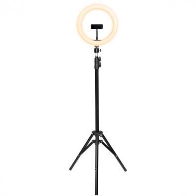 Kit Ring Light LED Vinik 26cm com Tripé de e Suporte Para Celular, 3 Tipos de Iluminação, USB - RL26