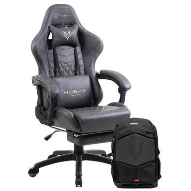 Cadeira Gamer Tempest Husky Gaming Light e Grey 700 + Mochila Gamer Husky Gaming Avalanche, para Notebook de até 17.3´, Preta