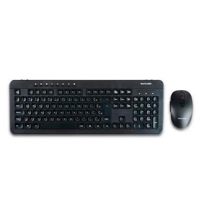 Teclado e Mouse Sem Fio Multilaser, Recarregavel, Conexão 2.4Ghz e USB, Preto - TC250