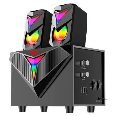 Caixa de Som Gamer e Subwoofer Redragon Toccata, 11W RMS, RGB, USB, preto - GS700
