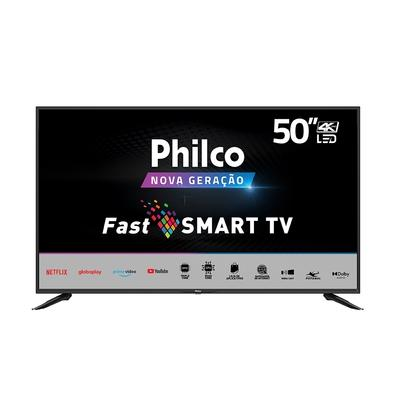 Smart TV Philco PTV50N10N5E, 50, 4K, UHD, LED, HDR10, HDMI/USB/Wi-Fi, Dolby Audio, Conversor Digital, Preto - 99503028