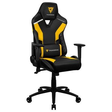 Cadeira Gamer TC3 ThunderX3, Encosto Reclinável, Braço 2D, 125Kg, Preto/Amarelo - 72996