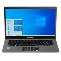 Notebook Multilaser Legacy Cloud Intel Quad Core Atom Z8350, 2GB, 64GB + SD Card 64GB, Windows 10 Home, 14, Cinza - PC136
