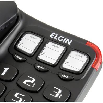 Telefone Elgin Com Fio Preto - TCF2300
