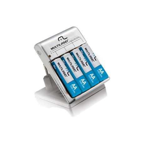 Carregador de Pilhas Multilaser c/ 4 Pilhas AA RM02 - CB054