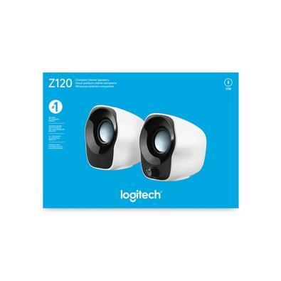 Caixa de Som Logitech Z120 1.2W RMS Estéreo USB P3 Preto e Branco