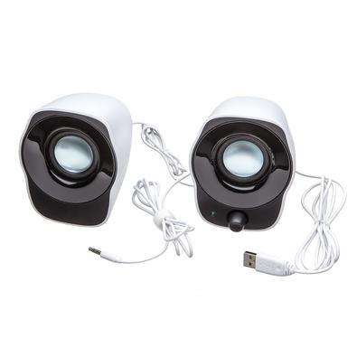 Caixa de Som Logitech Z120 1.2W RMS Estéreo USB P3 Preto e Branco - 980-000573