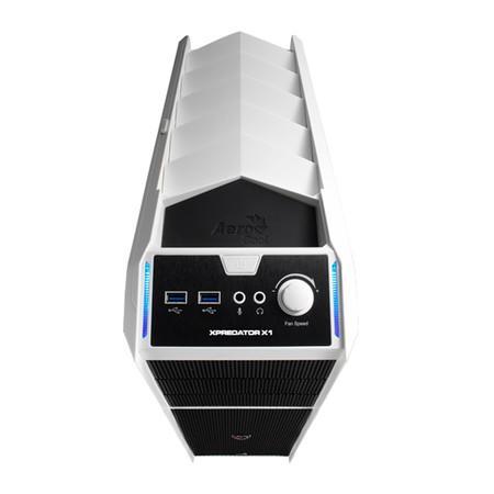 Gabinete Gamer AeroCool ATX s/ Fonte X-Predator X1 White - EN57080