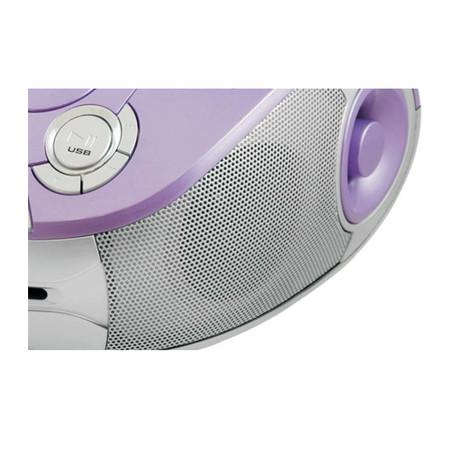 Rádio Portátil Philco - CD, MP3, USB, Aux. e FM 4W RMS Bivolt Lilás/Prata- PB126L 057003070
