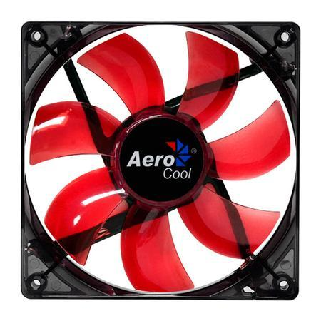 Cooler FAN AeroCool 120x120 Lightning Red EN51363