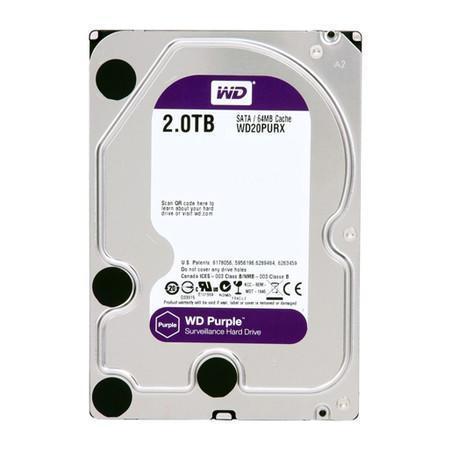 HD WD Purple Surveillance, 2TB, 3.5´, SATA - WD20PURX