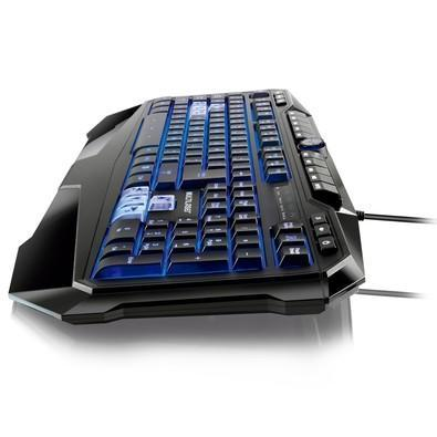 Teclado Gamer Warrior LED, ABNT2  - TC167