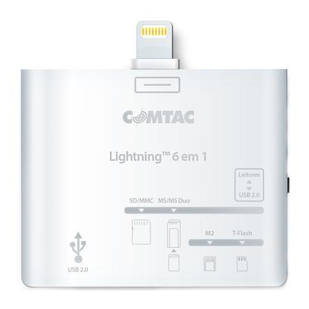 Comtac Leitor de cartão e USB 6x1 para iPad 4/Air/Mini 9258