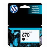 Cartucho de Tinta HP 670 Preto - CZ113AB
