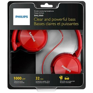 Headphone Philips P2, Driver 32mm, Vermelho - SHL3060RD