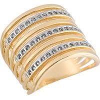 Anel Dourado com Zircônias Tamanho 22  - AN700230F
