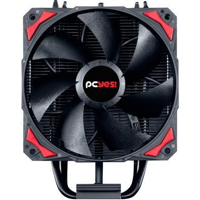 Cooler para Processador PCYES Zero K Z4 Vermelho 120mm sem LED AMD/Intel - ACZK4120