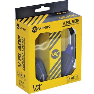Headset Gamer Vinik V Blade Linha VX Preto e Azul - 23649